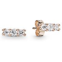 Pandora Rose 280725CZ Oorbellen zilver Sparkling Elegance rosékleurig
