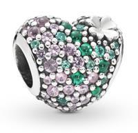 Pandora 797869NRGMX Bedel zilver Gleaming Clover Heart