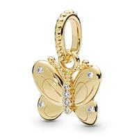 Pandora Shine 367962CZ zilver Hanger zilver Decorative Butterfly goudkleurig