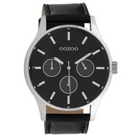 Oozoo C10049 Horloge Timepieces Collection staal zilverkleurig-zwart 48 mm