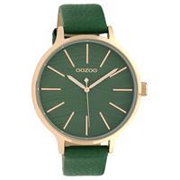 OOZOO C10123 Horloge Timepieces Collection staal/leder rosekleurig-green 45 mm