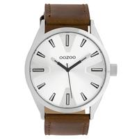 OOZOO C10020 Horloge Timepieces Collection staal zilverkleurig-bruin 46 mm