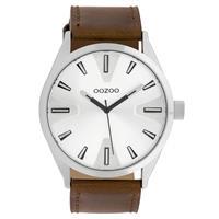 OOZOO C10020 Horloge Timepieces Collection staal zilverkleurig-bruin 46 mm