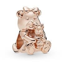 Pandora Rose 788007 bedel zilver rosekleurig Mother and Child Teddybear
