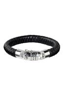 Buddha to Buddha Ben Leather Bracelet Black 544BL