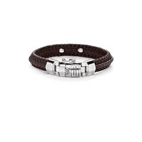 Buddha to Buddha Nurul Small Leather Bracelet Brown
