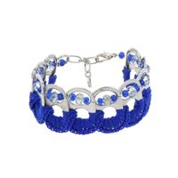 MoreThanHip Esperanza armband van bliklipjes - blauw