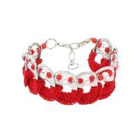 MoreThanHip Esperanza armband van bliklipjes - rood