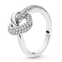 Pandora 198086CZ Ring zilver Knotted Heart Maat 58