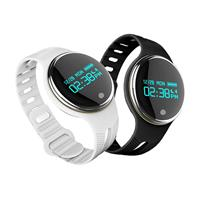 MyXL E07 Smart Horloge IP67 Horloges Vrouwen Mannen Smart Polsband voor iphone 5 s/6/6 s/7/7 Plus Android IOS Smart telefoon  - zwart