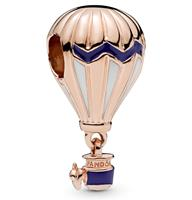 Pandora 788055ENMX Bedel rose Heteluchtballon met blauw emaille