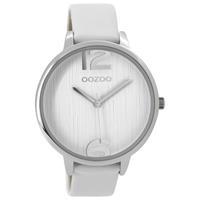 OOZOO C9530 Horloge Timepieces Collection zilverkleurig-wit 42 mm