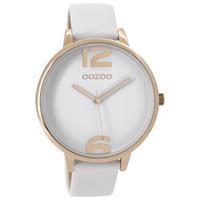 OOZOO C9531 Horloge Timepieces Collection rosekleurig-wit 42 mm
