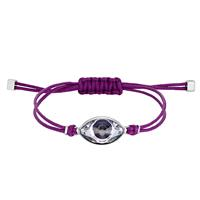 Power Collection Evil Eye Bracelet, Purple, Stainless steel