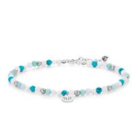 Rebel & Rose Anklet 4 mm Blue Fantasy S
