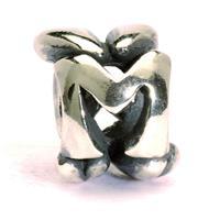 Trollbeads TAGBE-10072  bedel zilver letter M