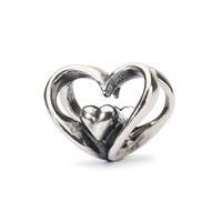 Trollbeads TAGBE-10202 Open je hart Heart to Heart bead