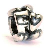 Trollbeads bedel zilver letter F TAGBE-10065