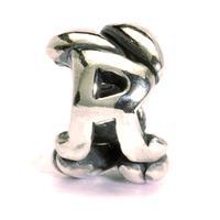 Trollbeads bedel zilver letter R TAGBE-10077