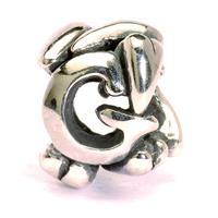 Trollbeads bedel zilver letter G TAGBE-10066