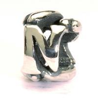 Trollbeads bedel zilver letter N TAGBE-10073