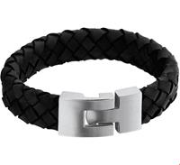 TFT Armband Staal Leer 15 mm 20  cm
