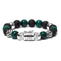 188MM Armband Spirit Bead Mix Malachite (F) 21 cm