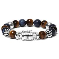 Buddha to Buddha 188MS Armband Spirit Bead Mix Sodalite Tigereye (F) 21 cm