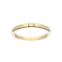 Gouden Ring - Glanzend Diamant 1-0.02ct G/si 214.2004.58