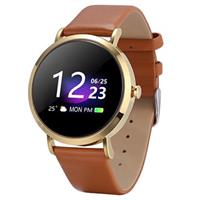 Waterbestendig Bluetooth Sports Smartwatch CV08C - Goud / Bruin