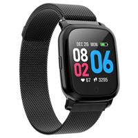 Waterbestendig Bluetooth Sports Smartwatch CV06 - Milanees - Zwart