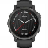 Garmin fēnix 6S Sapphire - Carbon grey DLC met zwarte pol