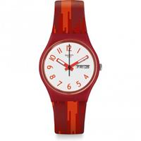 Swatch Original Gent Red Flame Unisexuhr in Rot GR711