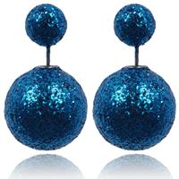 lookinggoodtoday Double Dots oorbellen Shiny Blue