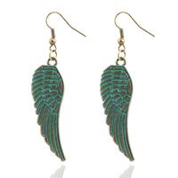 lookinggoodtoday Fashion oorbellen Angel Wings Turquoise