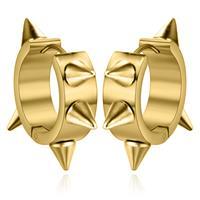lgtjwls LGT Jewels Creolen Edelstaal Spike Gold