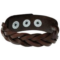 lgtjwls Leren mannen armband Twisted Wrap Donkerbruin