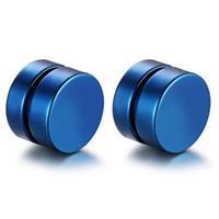 lgtjwls Magnetische Stud oorbellen Blauw 8mm