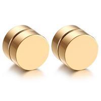 lgtjwls Magnetische Stud oorbellen Goud 8mm