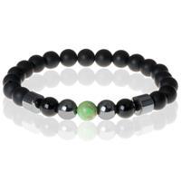 memphis Heren kralen armband Lucky Stone Green