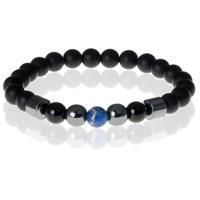 memphis Heren kralen armband Lucky Stone Blue