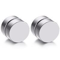 lgtjwls Magnetische Stud oorbellen Zilver 8mm