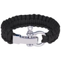 lgtjwls Paracord armband Zwart met Zilver