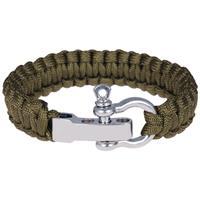 lgtjwls Paracord armband Legergroen met Zilver