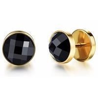 Jewelry Stud oorbellen Zircon Gold