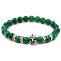 memphis Kralen heren armband groen natuursteen Spartan Helmet