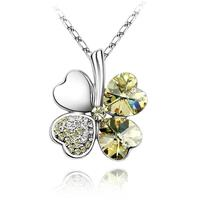 Van Amstel Ketting Clover Yellow - Swarovski Elements