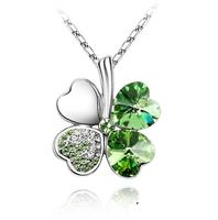 Van Amstel Ketting Clover Green - Swarovski Elements
