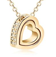 Van Amstel Ketting Heart In Heart Gold