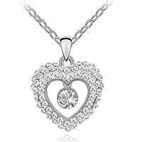 Van Amstel Ketting Round In Heart - Swarovski Elements